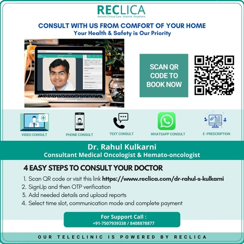 Book Online Consultation with Dr. Rahul Kulkarni|OncoWin Clinic|Aundh,Pune