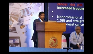 Dr. Rahul Kulkarni addressing at GIMACON 2019 - OncoWin Clinic | Aundh, Pune